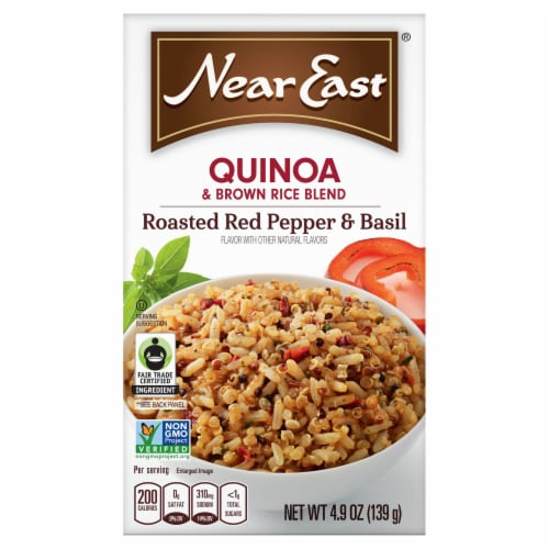 Near East Roasted Red Pepper & Basil Quinoa Blend Perspective: front