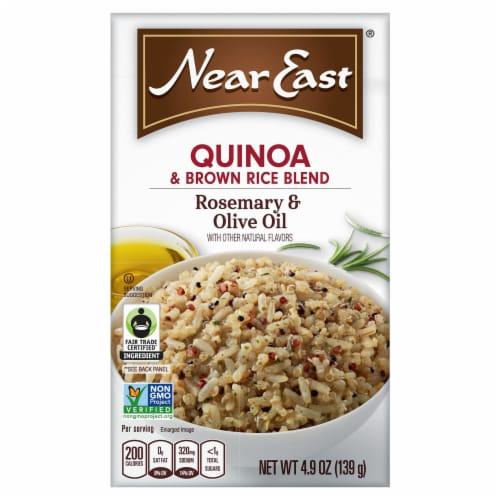 Near East Rosemary & Olive Oil Flavor Quinoa & Brown Rice Blend Perspective: front