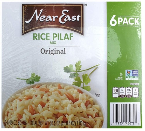 Near East 100 Percent Natural Rice Pilaf Original Mix 6.09 Ounce Boxes (Pack of 6) Perspective: front