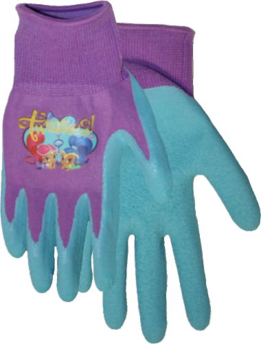 Midwest Quality Gloves Shimmer and Shine Kids' Gripping Gloves - Blue/Purple Perspective: front