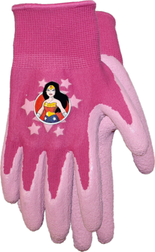 Midwest Quality Gloves Wonder Woman Kids' Gripping Gloves - Pink Perspective: front