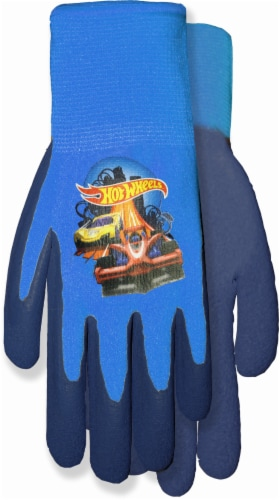 Midwest Quality Gloves Hot Wheels® Kids' Garden Gripping Gloves - Blue Perspective: front