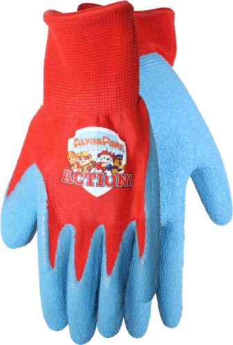 Midwest Quality Gloves PAW Patrol Kids' Gripping Gloves - Blue/Red Perspective: front