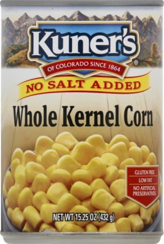 Kuner's No Salt Added Whole Kernel Corn Perspective: front