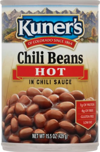 Kuner's Hot Chili Beans in Spicy Chili Sauce Perspective: front