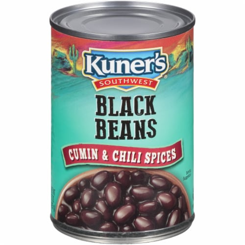 Kuner's Southwest Cumin and Chili Spices Black Beans Perspective: front