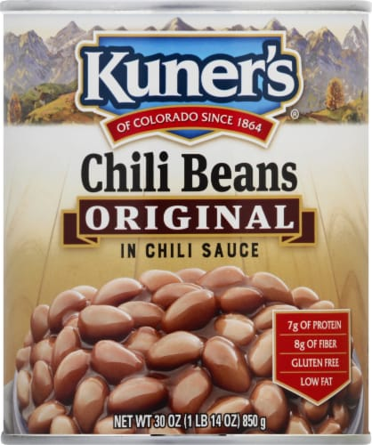 Kuner's Original Chili Beans in Chili Sauce Perspective: front