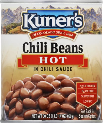 Kuner's Hot Chili Beans in Chili Sauce Perspective: front