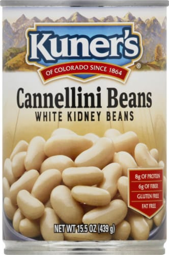 Kuner's Cannellini White Kidney Beans Perspective: front