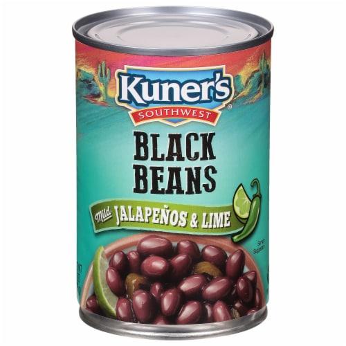 Kuner's Southwest Black Beans with Mild Jalapeño & Lime Perspective: front