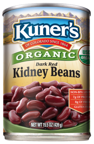 Kuner's Organic Red Kidney Beans Perspective: front