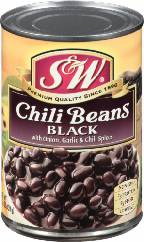 S&W Black Chili Beans Perspective: front