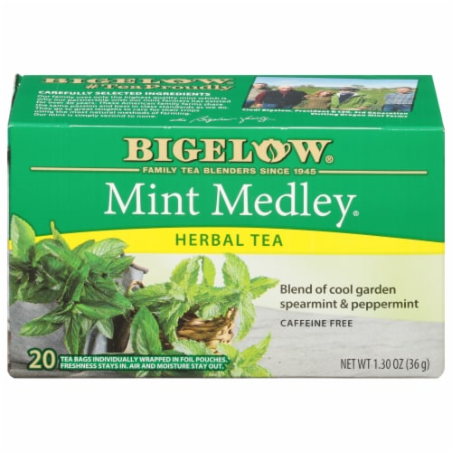 Bigelow Mint Medley Herbal Tea Perspective: front
