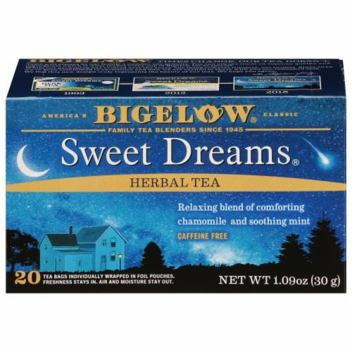 Bigelow Sweet Dreams Herbal Tea Perspective: front