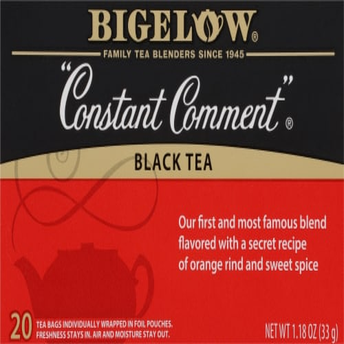 Bigelow Constant Comment Tea Bags Perspective: front