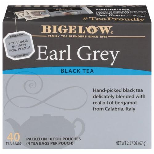 Bigelow Earl Grey Black Tea Tea Bags Perspective: front