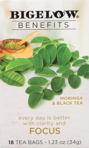 Bigelow Benefits Focus Moringa and Black Tea Bags Perspective: front
