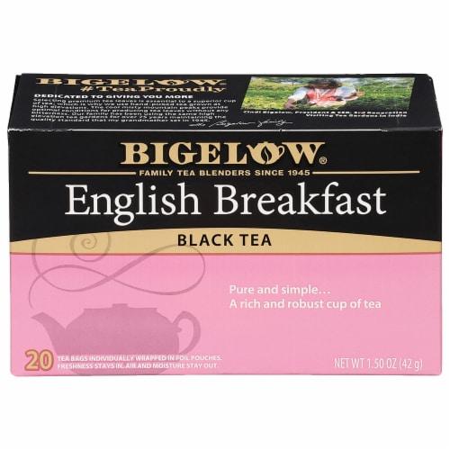 Bigelow English Breakfast Black Tea Perspective: front