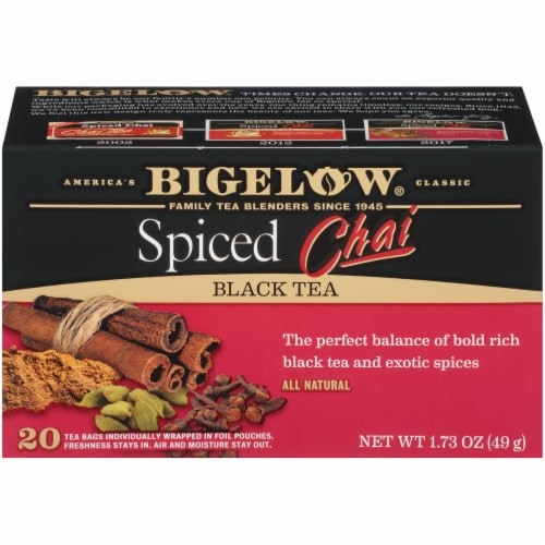 Bigelow Spiced Chai Black Tea Perspective: front