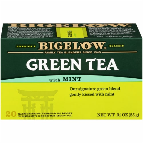 Bigelow Green Tea with Mint Tea Perspective: front