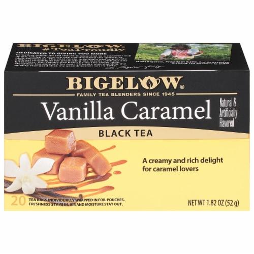 Bigelow Vanilla Caramel Black Tea Perspective: front
