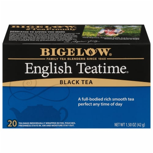 Bigelow English Teatime Black Tea Perspective: front