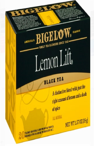 Bigelow Lemon Lift Tea Bags Perspective: front