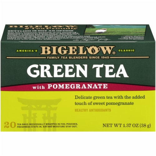 Bigelow Green Tea with Pomegranate Tea Perspective: front