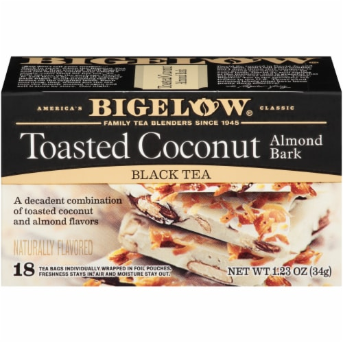 Bigelow Toasted Coconut Almond Bark Black Tea Perspective: front