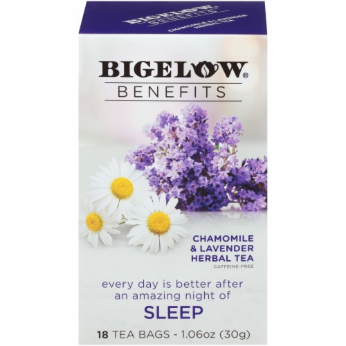 Bigelow Benefits Sleep Chamomile & Lavender Herbal Tea Bags Perspective: front