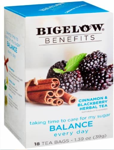 Bigelow Benefits Cinnamon & Blackberry Herbal Tea Bags Perspective: front