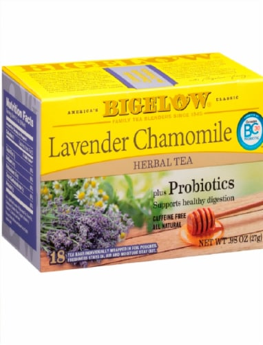 Bigelow Lavender Chamomile Tea Bags Perspective: front