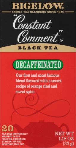 Bigelow Constant Comment Decaffeinated Black Tea Perspective: front