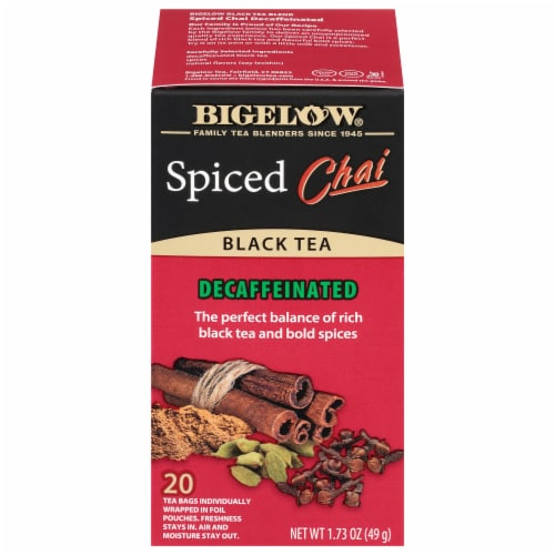 Bigelow Spiced Chai Decaffeinated Black Tea Perspective: front