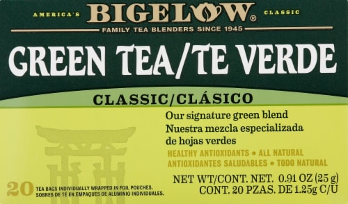 Bigelow Green Tea with Mint Perspective: front