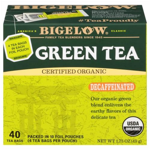 Bigelow Organic Decaffeinated Green Tea Perspective: front
