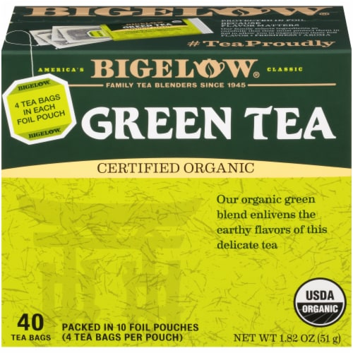 Bigelow Organic Green Tea Bags Perspective: front