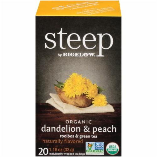 Bigelow Steep Organic Dandelion & Peach Rooibos & Green Tea Perspective: front