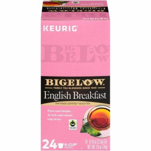 Bigelow  English Breakfast Fair Trade Certified Black Tea K-Cup Pods 24 Count Perspective: front