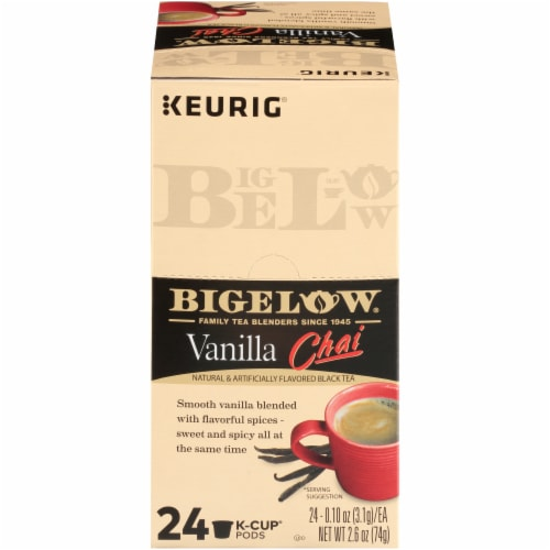 Bigelow Vanilla Chai Black Tea K-Cup® Pods Perspective: front