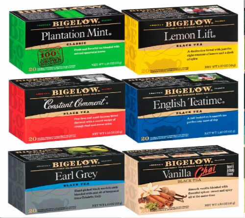Bigelow Black Teas Mixed Case Perspective: front