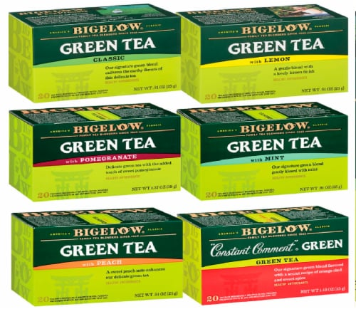 Bigelow Green Tea Mixed Case Perspective: front