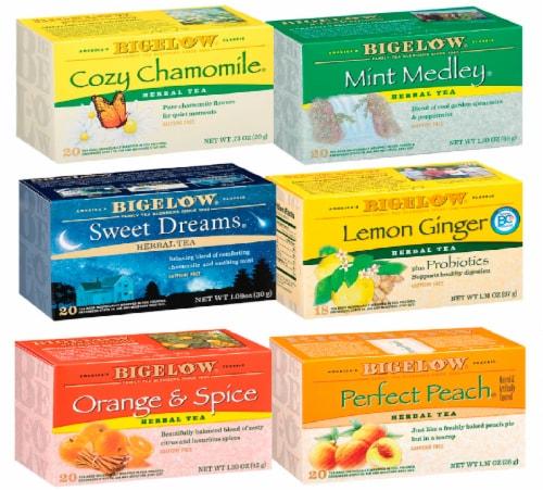 Bigelow Herbal Tea Mixed Case Perspective: front