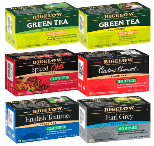 Bigelow Decaf Mixed Case Tea Perspective: front