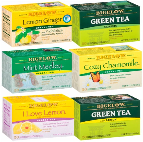 Bigelow Cold and Flu Teas Mixed Case Perspective: front