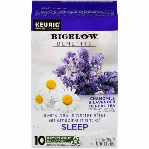 Bigelow Benefits Chamomile & Lavender Herbal Tea K-Cup Pods Perspective: front