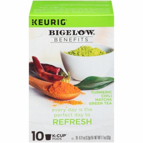 Bigelow Turmeric Chili Matcha Green Tea Herbal Tea K-Cup® Pods Perspective: front