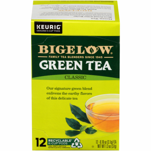 Bigelow Green Tea Classic K-Cup Pods Perspective: front