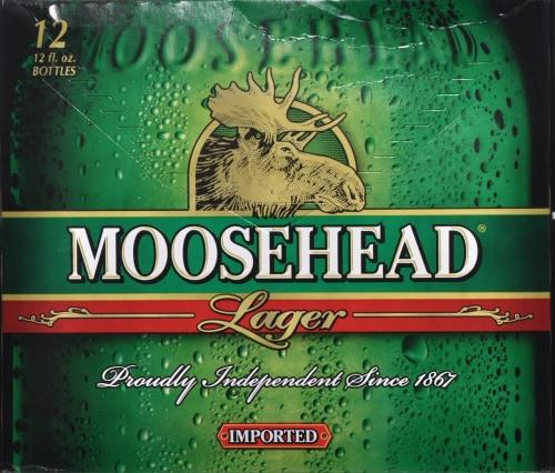 Moosehead Beer Perspective: front