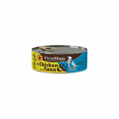 Firstmate Pet Foods FI22257 50 by 50 Chicken & Tuna Formula Grain Free Canned Cat Food Perspective: front